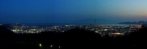 赤穂市の夜景/赤穂ピクニック公園