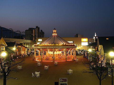 阪急宝塚ハウジングガーデンのメリーゴーランド・宝塚水と光の彩り2006/宝塚市の夜景