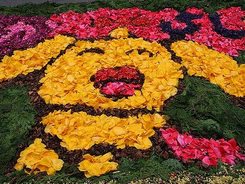 2006年インフィオラータ神戸/神戸元町穴門商店街/チューリップの花絵