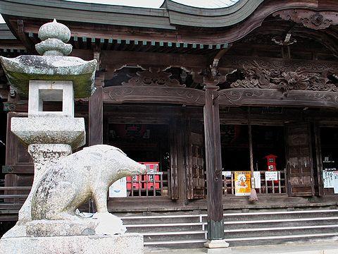 狛イノシシ・先山千光寺/淡路島・洲本市