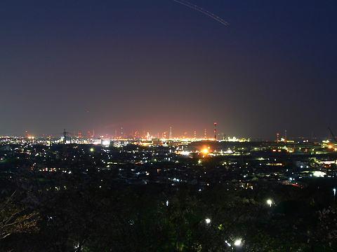 日笠山公園から見た高砂市と加古川市の夜景/姫路市