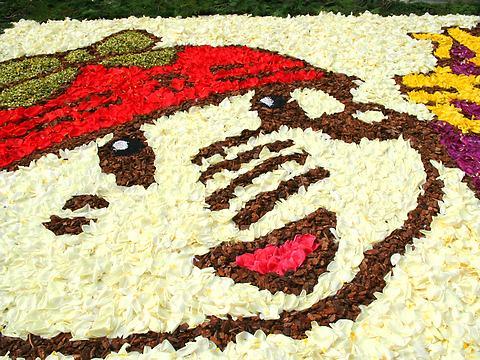 インフィオラータ神戸・三宮あじさい通りのチューリップの花絵/神戸市中央区