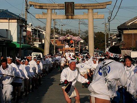 武神祭の壇尻(だんじり)/姫路・魚吹八幡神社