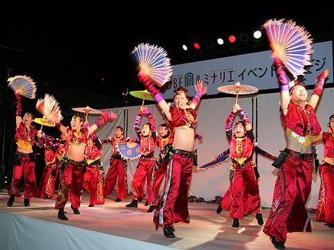 兵庫よさこい連「おとめ」&吉田悦子ダンススクール/ルミナリエステージイベント