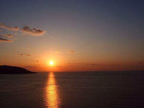 2006年最後の瀬戸内海に沈む夕日