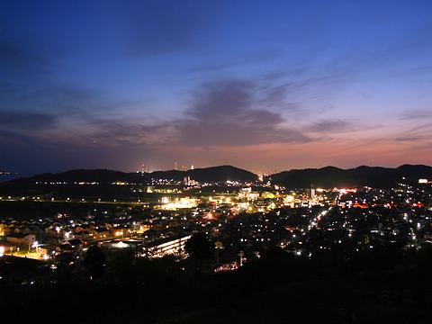 日笠山公園から見た姫路市大塩と的形の夜景/姫路市
