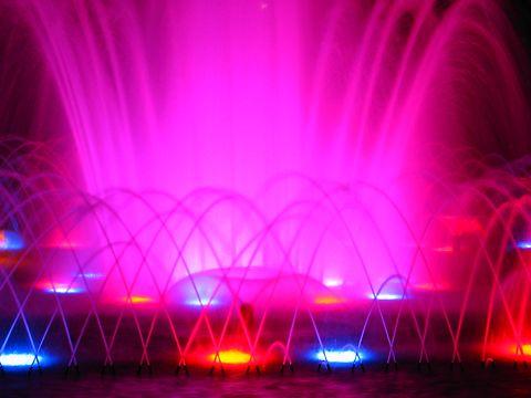 噴水のライトアップ・須磨離宮公園の夜景/神戸市