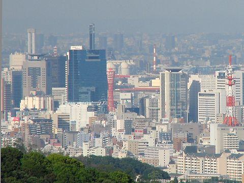 神戸ポートタワーと神戸市中央区の風景/神戸市須磨区・おらが山(高倉山)
