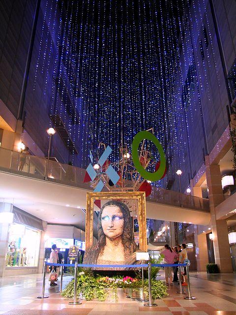 レオナルド・ダ・ヴィンチ 「モナリザ」印象派絵画のガーデンミュージアム/神戸市・ハーバーランドキャナルガーデン