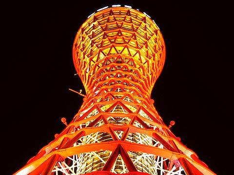 神戸ポートタワーのライトアップ/通常のライトアップ