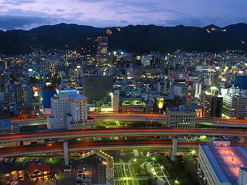 ポートタワーから見た神戸の夜景
