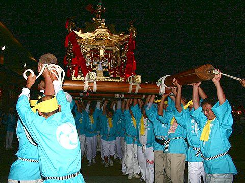 お神輿の練り回し/加古川 日岡神社秋祭り・御輿渡御