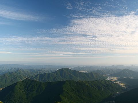 千ヶ峰から見た南の風景
