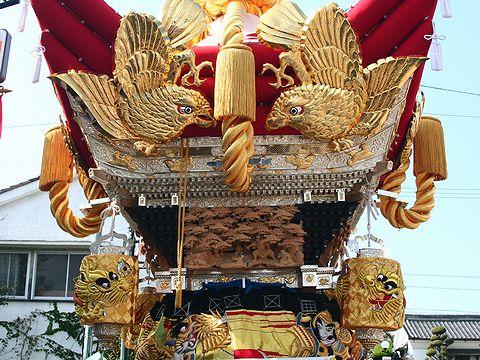 佐保神社秋祭りの屋台/加東市社