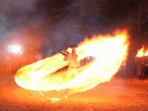 愛宕神社の火祭り(愛宕の火振り)/豊岡市出石町 伊福部神社・愛宕神社