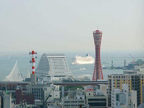 """神戸港に入港する飛鳥Ⅱ"""""""