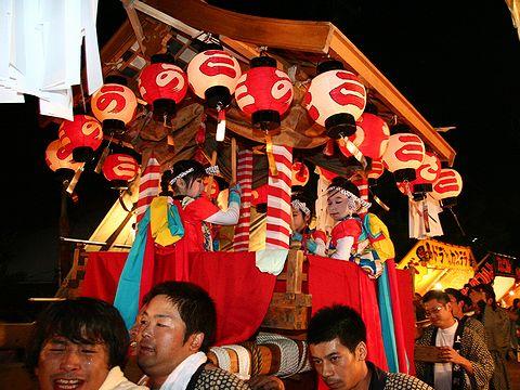 太鼓神輿の巡航/篠山市 春日神社秋祭り