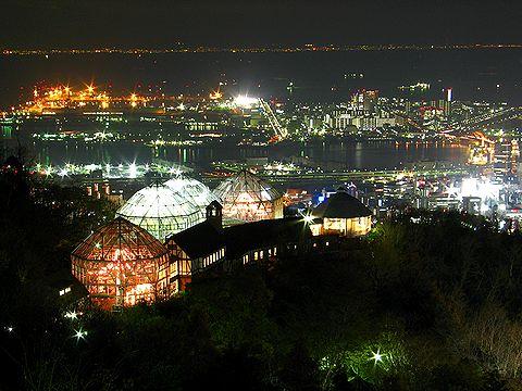 布引ハーブ園の夜景/神戸市六甲山