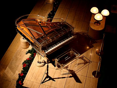 スケルトンのピアノ。