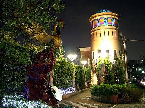 手塚治虫記念館のライトアップ・宝塚水と光の彩り2006/宝塚市の夜景