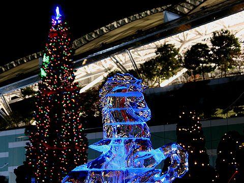 氷の彫刻/噴水のライトアップ/アクアルミナス・宝塚阪神競馬場のイルミネーション/宝塚の夜景