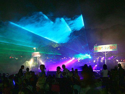 明石市民夏まつりフィナーレのレーザーショー