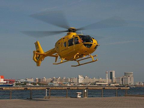 ヘリコプターの神戸港遊覧飛行/神戸メリケンパーク