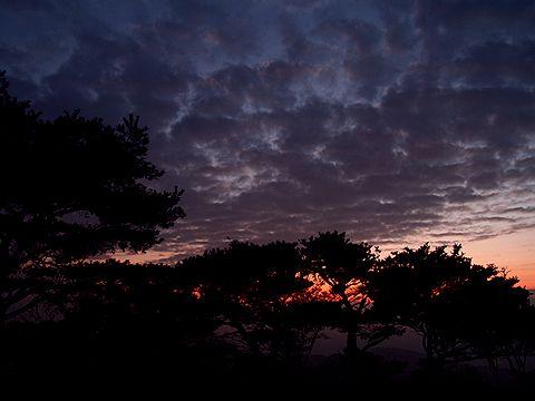 笠の丸の夕焼け空/多可町
