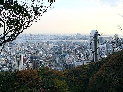 城山から望む神戸の風景/神戸市六甲山