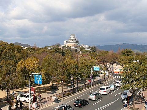 総社御門2階の展望室から見た姫路城・姫路播磨国総社/姫路市