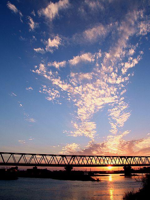秋の夕焼け/加古川