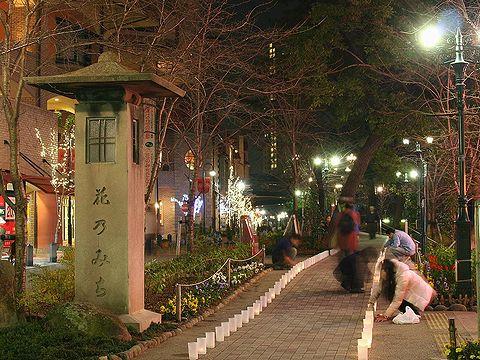宝塚花のみち・キャンドルデコレーション光の散歩道イルミネーション/宝塚市の夜景
