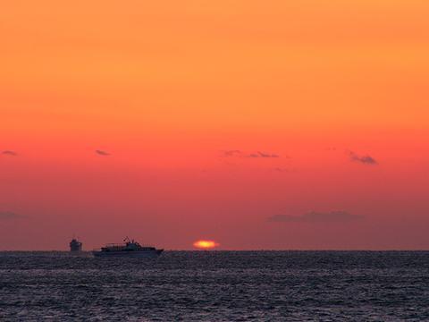 明石海峡の夕焼け空/神戸市