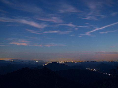 千ヶ峰の夜景/神河町・多可町