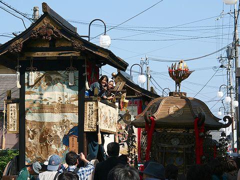 御輿と山鉾/篠山・春日神社の秋祭り