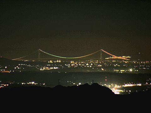 明石海峡大橋/千ヶ峰の夜景/神河町・多可町
