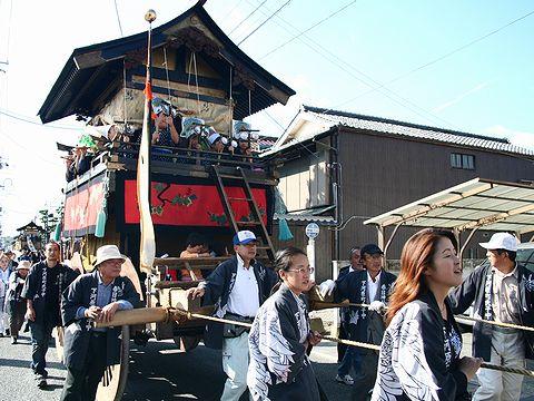 山鉾巡航/京都の祇園祭りの影響をうける篠山・春日神社の山鉾
