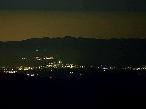 六甲山/千ヶ峰の夜景/神河町・多可町