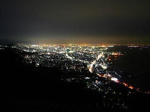 神戸市須磨区~兵庫区~中央区~六甲山と大阪湾の夜景/神戸市須磨区・鉢伏山須磨浦山上遊園から見る神戸の夜景