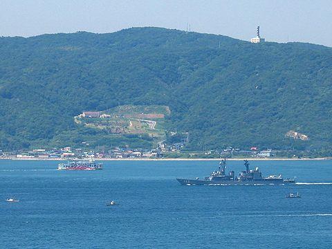 艦船とたこフェリー/明石海峡