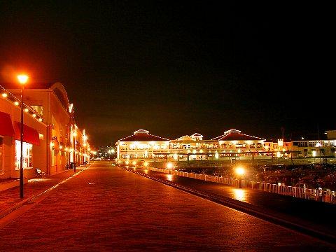 マリンピア神戸ポルトバザールライトアップ夜景/神戸市垂水区