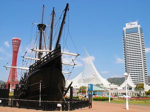 神戸メリケンパーク・帆船サンタマリア号/神戸市中央区