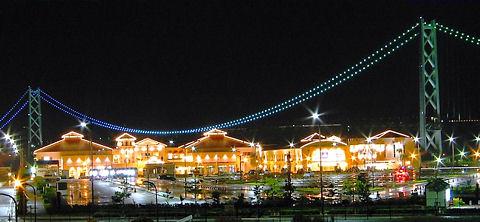 マリンピア神戸ライトアップ夜景/神戸市垂水区