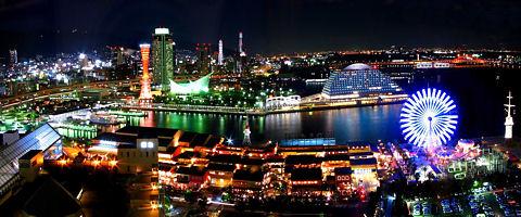 神戸ハーバーランド・神戸メリケンパークの夜景/神戸市中央区