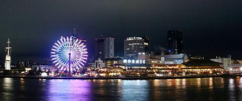 神戸ハーバーランドモザイクの夜景/神戸市中央区