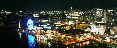 神戸ハーバーランドとモザイクの夜景/神戸市中央区