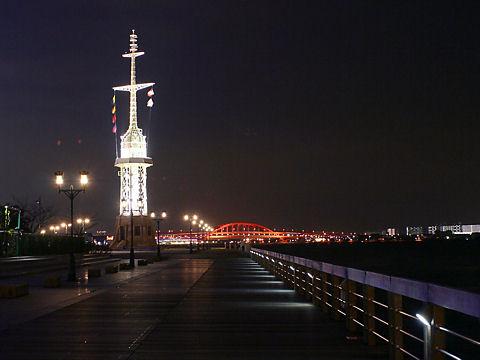 神戸ハーバーランド・ハーバーウォークの夜景/神戸市中央区