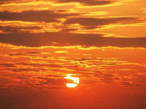 夕日・夕焼けの写真