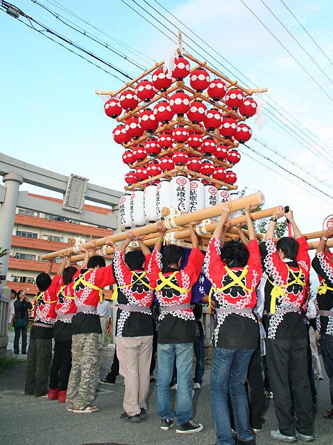 提灯屋台の巡行・明石稲爪神社の秋祭り/播州の秋祭り-明石市