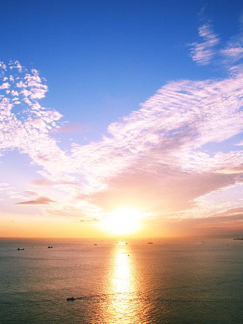 夕焼け空・夕焼け雲の写真画像